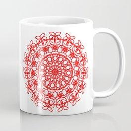 Red Mandala Symmetry art Esoterik Coffee Mug