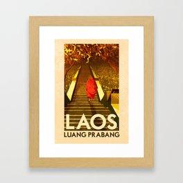 Laos - Luang Prabang Framed Art Print