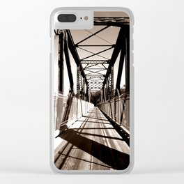 Shadowed Bridge Clear iPhone Case