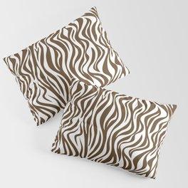 Brown Zebra Skin Print Pillow Sham