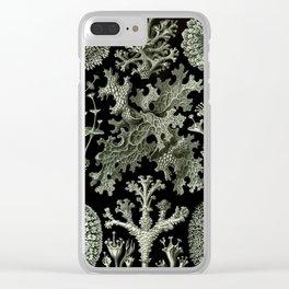 Vintage Lichen Clear iPhone Case