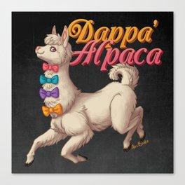 Dappa' Alpaca Canvas Print
