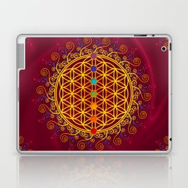 FLOWER OF LIFE, CHAKRAS, SPIRITUALITY, YOGA, ZEN, Laptop & iPad Skin