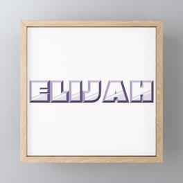 """ELIJAH"" first name purple pattern Framed Mini Art Print"