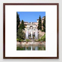 Villa d´este Framed Art Print