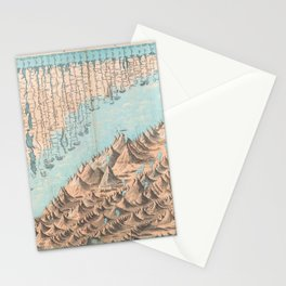 Chart of the World's Mountains and Rivers - Geographicus Stationery Cards