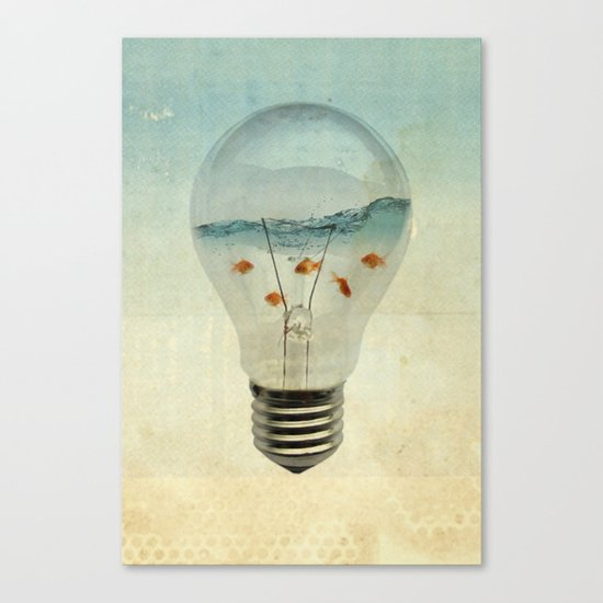 blue sea thinking Canvas Print