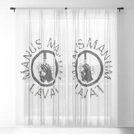 Manus Manum Lavat I - Wash your Hands Sheer Curtain