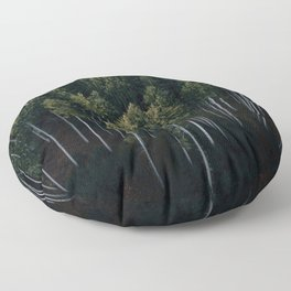 Aerial Photograph of a pine forest in Germany - Landscape Photography Floor Pillow