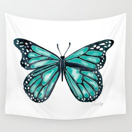 Turquoise Butterfly Wall Tapestry