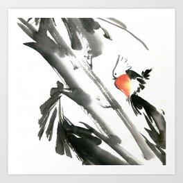 Bird2- Chinese Shui-mo (水墨) Art Print