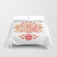 spain Duvet Covers featuring Spain Crest by George Williams