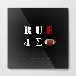 Are You Ready For Some Football (cryptic) - inverted Metal Print