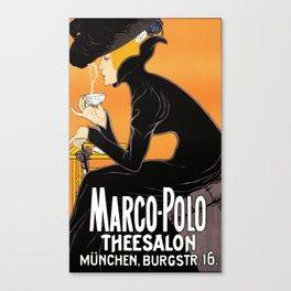 Vintage Advertising Poster - Marco Polo Thee Salon Canvas Print
