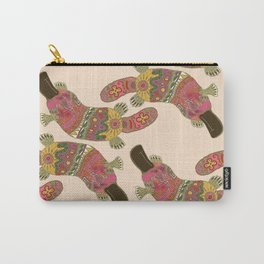 duck-billed platypus linen Carry-All Pouch