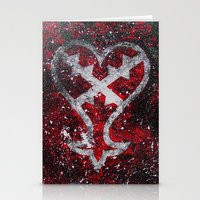 kingdom hearts Stationery Cards featuring Kingdom Hearts Heartless Symbol by Herk Designs
