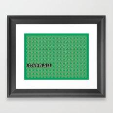 Love is All Framed Art Print