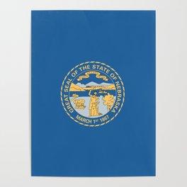 Nebraska State Flag Poster