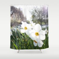 flora Shower Curtains featuring Flora by Kakel-photography
