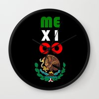 mexico Wall Clocks featuring Mexico  by RDsix3