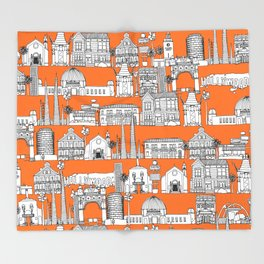 Los Angeles orange Throw Blanket