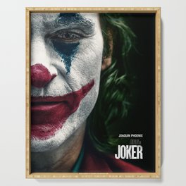 Joker Movie Poster, Joaquin Phoenix Poster, Movie Poster Printable Wall Art, Digital Downloads, Home Decor Wall Art, High Quality Photo Serving Tray