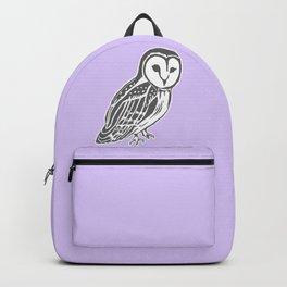 Grey Barn Owl Art Backpack
