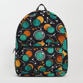 Great Total Solar Eclipse II // turquoise green moons Backpack