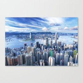 Hong Kong-Buildings Canvas Print