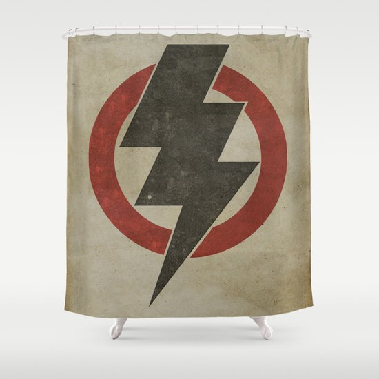 lightning strike zone Shower Curtain