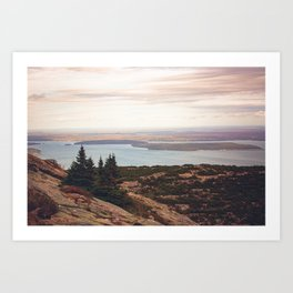 Wild and Free x Sunset over Acadia Art Print
