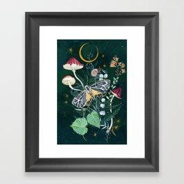 Mushroom night moth Framed Art Print
