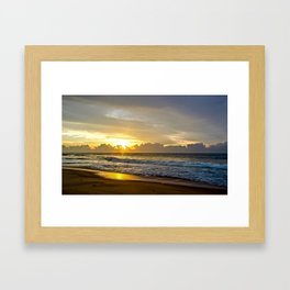 Sunrise over Sri Lanka Framed Art Print