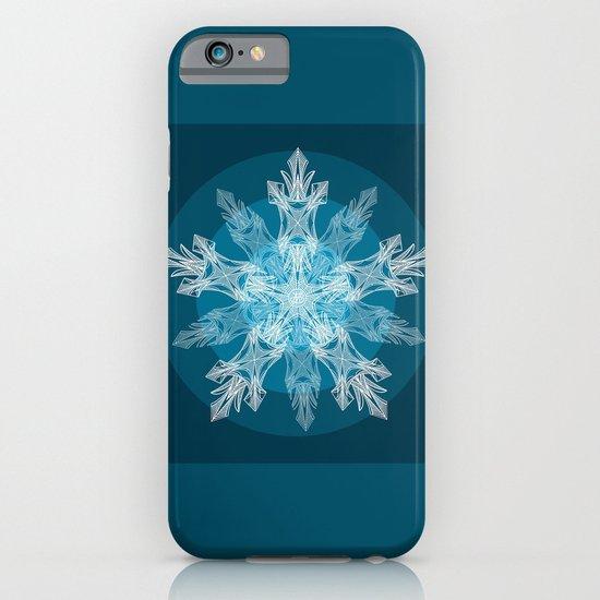 1 Blue Snowflake iPhone & iPod Case
