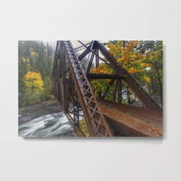 Autumn and Iron Metal Print