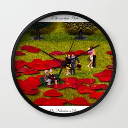 Love Is All Around Valentine Special Wall Clock