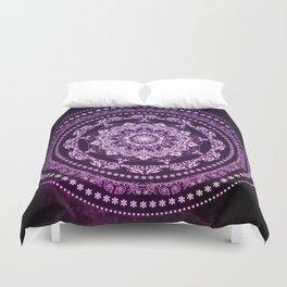 Purple Glowing Soul Mandala Duvet Cover