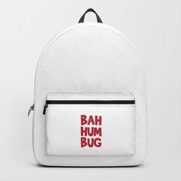 Bah Humbug Merry Christmas Funny Anti Xmas Long Sleeve Humor Pun Cool Gift Design Backpack