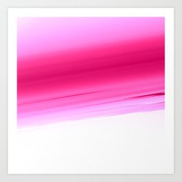 Pink White Smooth Ombre Art Print