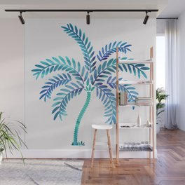 Whimsical Watercolor Palm Tree Wall Mural