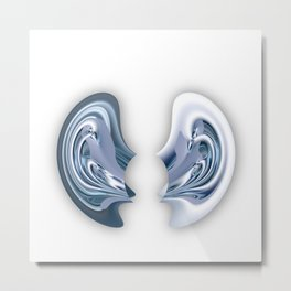 I'm all ears - Abstract illustration Metal Print