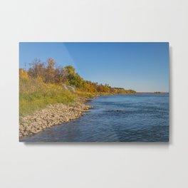 Autumn on the Missouri River Metal Print