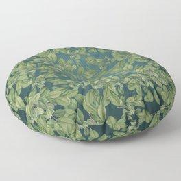 Verdant Leaves Floor Pillow