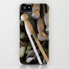 When Pins Were for Laundry, Not Images iPhone Case