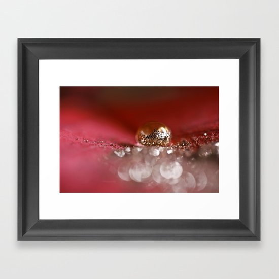 Golden Embers Framed Art Print