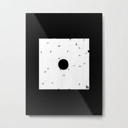 Ants on a Floppy Metal Print