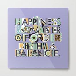 Happiness, purple Metal Print