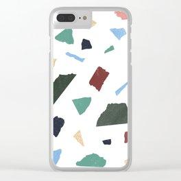 Terrazzo White Clear iPhone Case