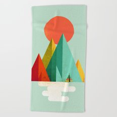Little Geometric Tipi Beach Towel