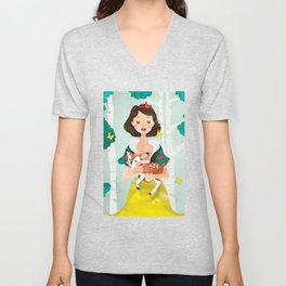 Snow White Unisex V-Neck